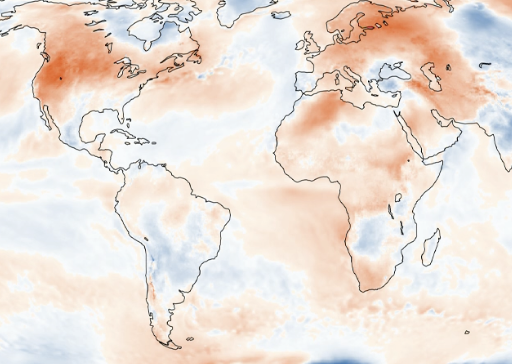 Last month was the hottest June on record in North America, according to new data from the Copernicus Climate Change Service. (Copernicus Climate Change Service)