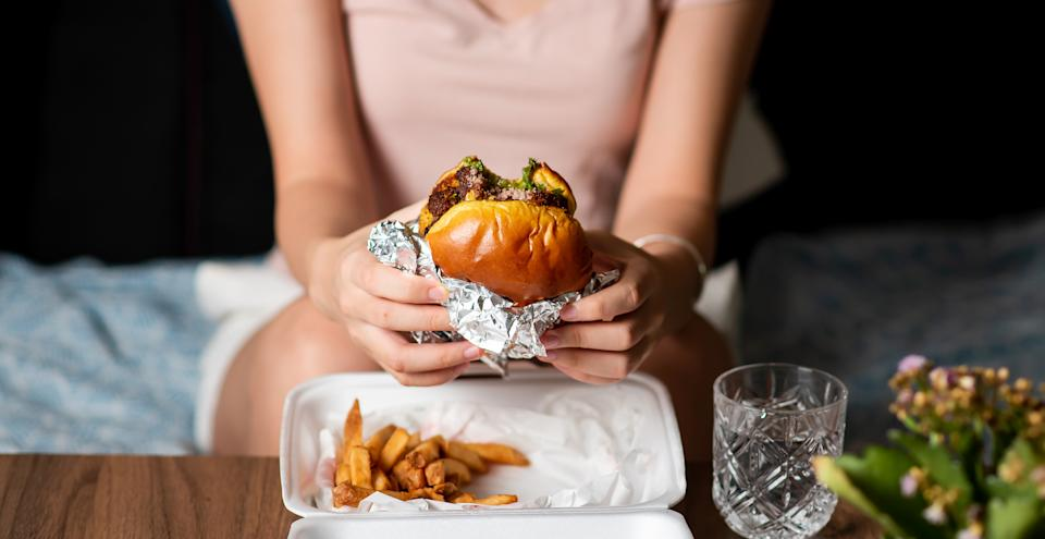 Almost half of adults put on half a stone in lockdown 'comfort eating', new research has revealed. (Getty Images)