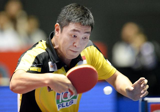 Gao Ning of Singapore, pictured in Tokyo on May 3, 2014 (AFP Photo/Toru Yamanaka)