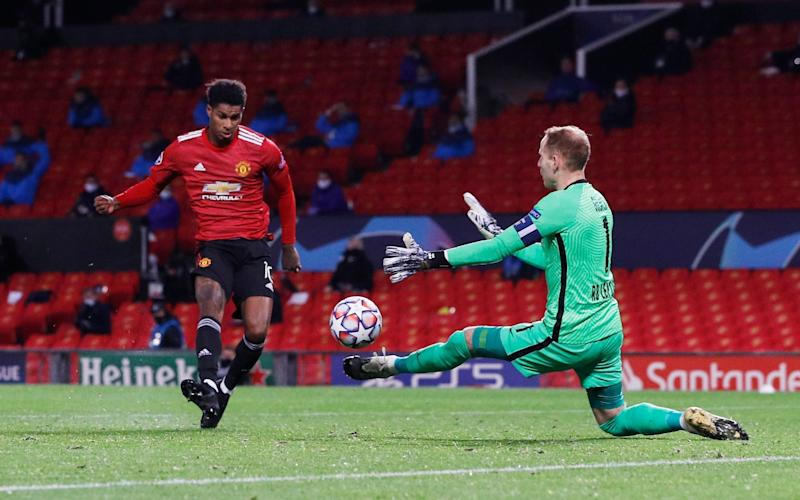 After stepping off the bench, Rashford scored a hat-trick within 18 minutes - REUTERS