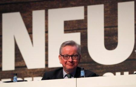 Michael Gove the Secretary of State for Environment, Food and Rural Affairs smiles after speaking during the National Farmers Union annual conference in Birmingham, Britain February 20, 2018. REUTERS/Darren Staples