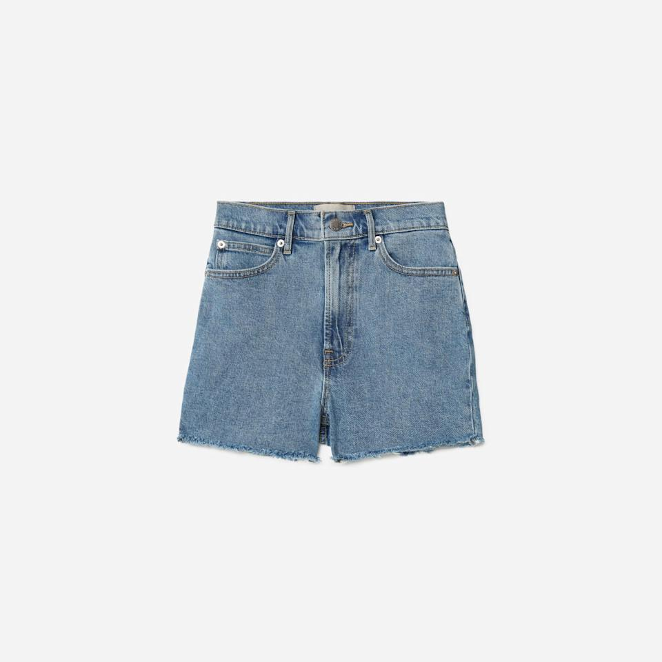 The Way-High Jean Short in Washed Blue (Photo via Everlane)