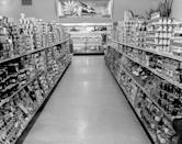 "<p>Grocery stores remodeled their aisles, <a href=""https://www.mentalfloss.com/article/26470/brief-history%E2%80%94and-future%E2%80%94-shopping-cart"" rel=""nofollow noopener"" target=""_blank"" data-ylk=""slk:making them wider"" class=""link rapid-noclick-resp"">making them wider</a>, so that multiple carts could fit at one time. </p>"
