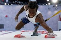 France's Mickael Mawem led the eight qualifiers going through to the sport climbing final round