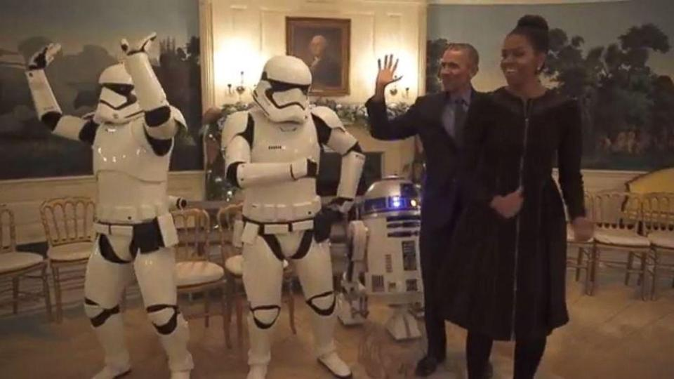 The Obamas Have a Dance-Off With Stormtroopers, R2-D2 in Celebration of Star Wars Day (ABC News)