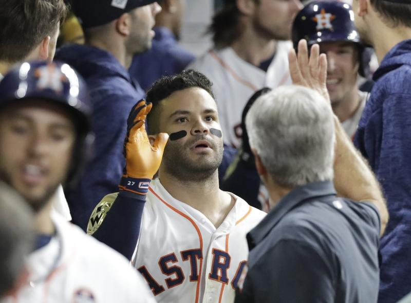 Astros second baseman Jose Altuve is one of three finalists for the AL MVP. (AP)