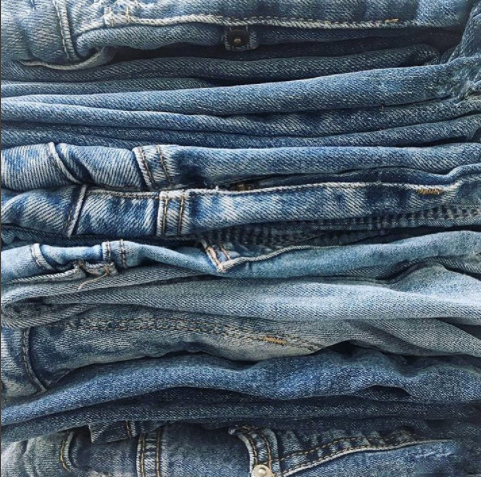 Jeans galore.