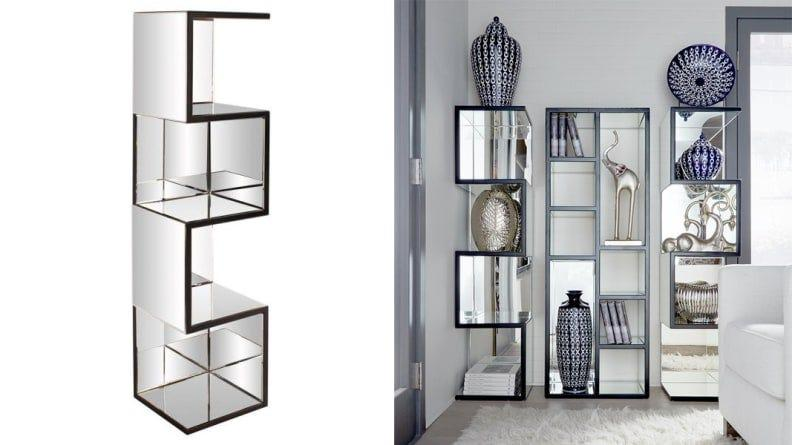 This mirrored shelf throws off serious retro '80s vibes and I can't get enough.