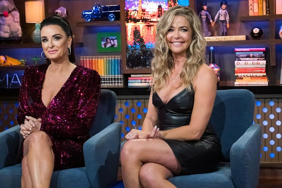 """<p>ICYMI: Denise Richards <a href=""""https://variety.com/2020/tv/news/denise-richards-leaving-real-housewives-of-beverly-hills-1234764496/"""" rel=""""nofollow noopener"""" target=""""_blank"""" data-ylk=""""slk:confirmed"""" class=""""link rapid-noclick-resp"""">confirmed </a>that she would not be returning to <em>The Real Housewives of Beverly Hills </em>for a third season on Sept. 9, 2020, the same day that part two of the season 10 reunion special aired. </p><p>After this whirlwind season, it comes as no surprise that Denise is turning in her diamond. The season largely centered around her conflicts with castmates about maintaining her public image (after perhaps being too open about her sex life on her first season). The drama hit a fever pitch when former Housewife Brandi Glanville claimed that she and Denise had an affair, which Denise vehemently denies. Following the explosive allegations, Denise sent cease and desist letters to castmates and producers and stopped filming with the group. </p>"""