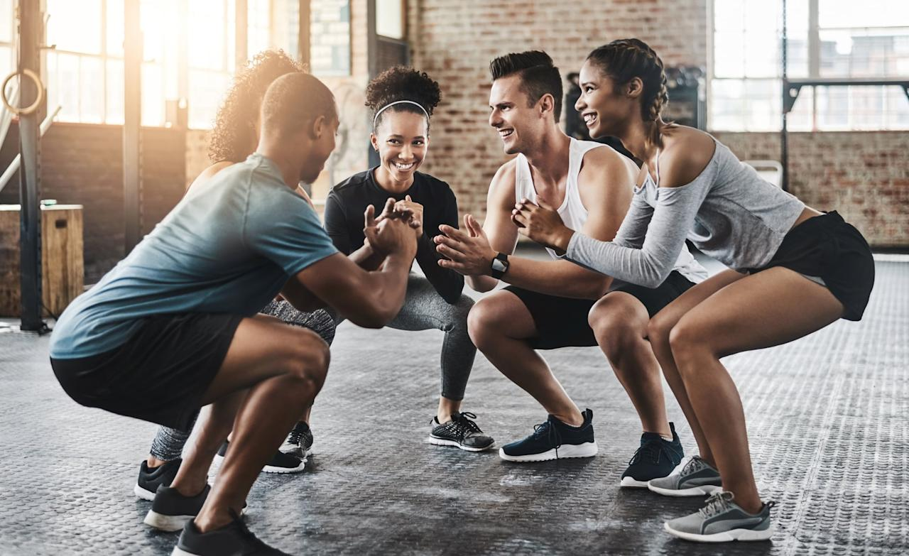 """<p>If you're new to strength training, you'll definitely want to try this <a href=""""https://www.popsugar.com/fitness/Beginner-Weightlifting-Workout-45579669"""" class=""""ga-track"""" data-ga-category=""""Related"""" data-ga-label=""""https://www.popsugar.com/fitness/Beginner-Weightlifting-Workout-45579669"""" data-ga-action=""""In-Line Links"""">beginner dumbbell strength workout</a>. It will teach you the fundamental movements of strength training and have you building muscle and getting stronger in no time.</p>"""