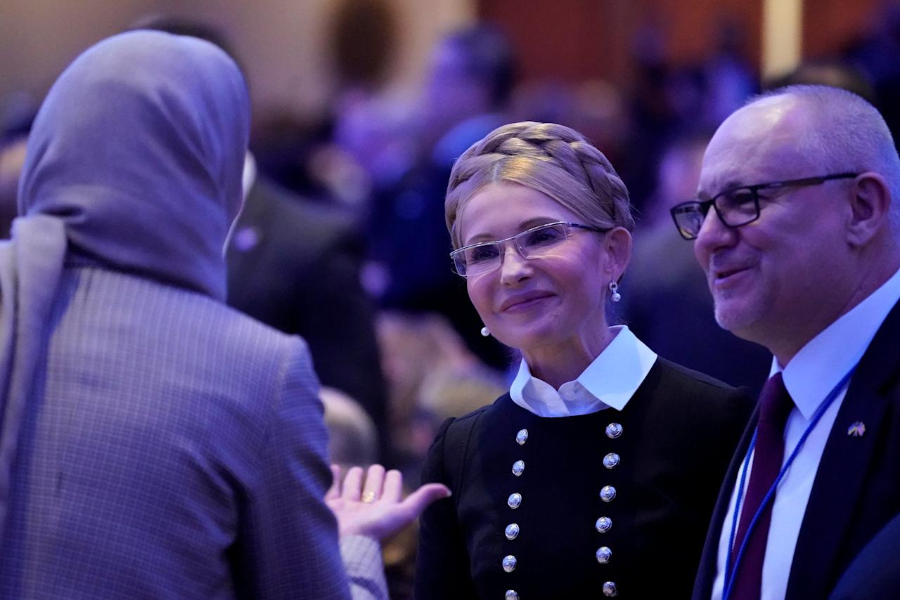 Ukraine's former Prime Minister Yulia Tymoshenko attends the National Prayer Breakfast in Washington, U.S. February 8, 2018. REUTERS/Jonathan Ernst