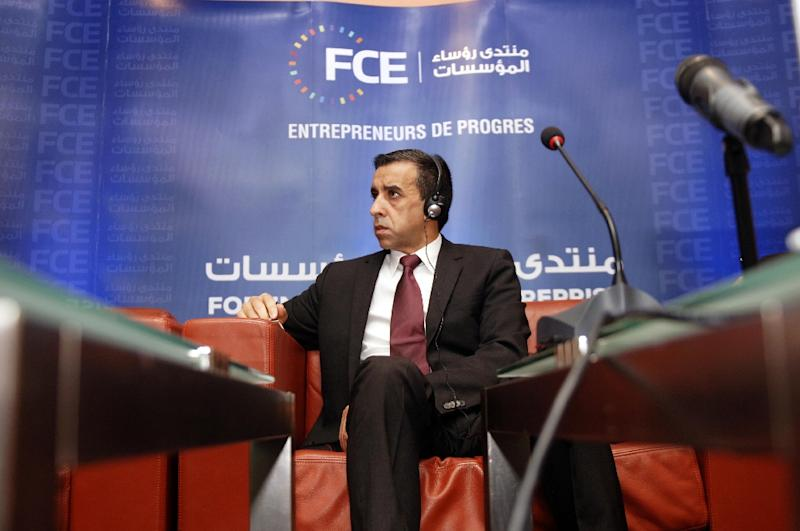 Ali Haddad, one of Algeria's top businessmen and a Bouteflika backer, was arrested late last month (AFP Photo/RYAD KRAMDI)