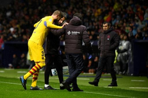 Pique was fortunate not to be sent off before hobbling from the pitch with an injury