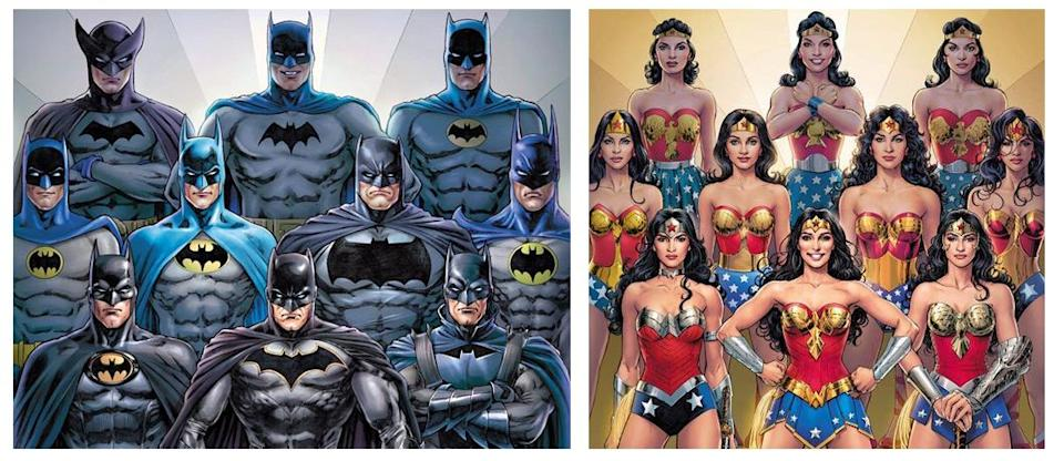 Batman and Wonder Woman are two examples of iconic heroes who are constantly upgrading and changing their costumes.