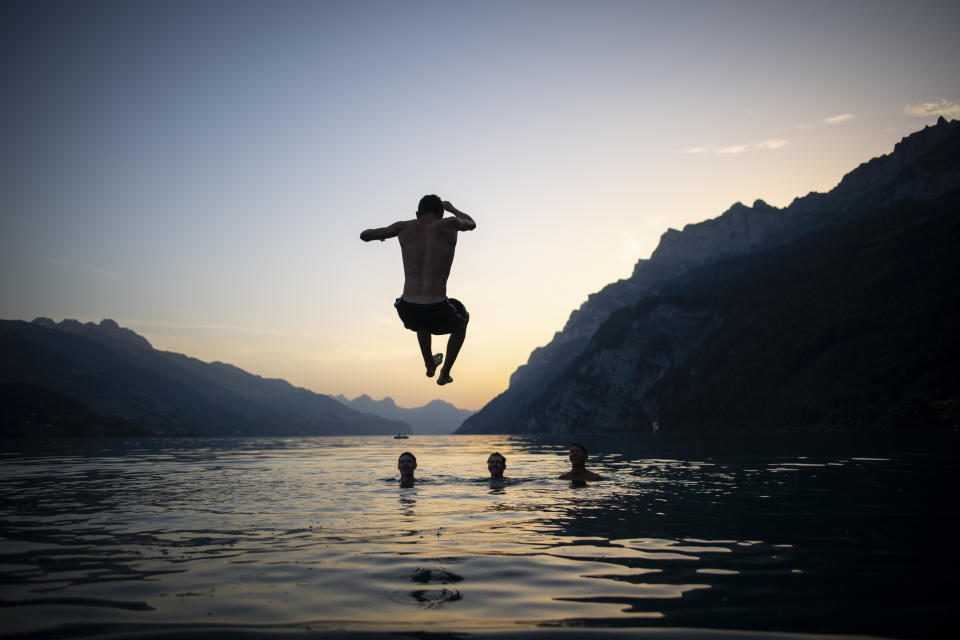 Switzerland has been hit by temperatures of up to 39 degrees (Gian Ehrenzeller/Keystone via AP)