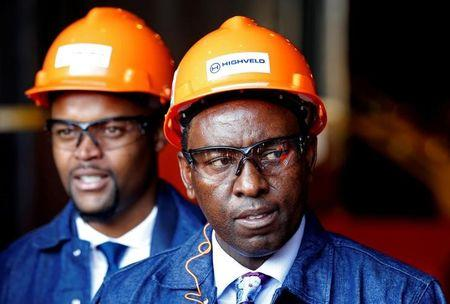 South Africa's Mineral Resources Minister Mosebenzi Zwane looks on during the reopening of the Highveld Steel heavy structural mill at Emalahleni in Mpumalanga province, South Africa June 6, 2017. REUTERS/Siphiwe Sibeko