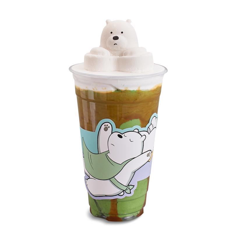 Ice Bear Marshmallow Matcha Caramel Frappe. (PHOTO: Kumoya)
