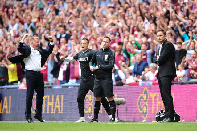 Frank Lampard and Derby tasted defeat in the playoff final. (Credit: Getty Images)