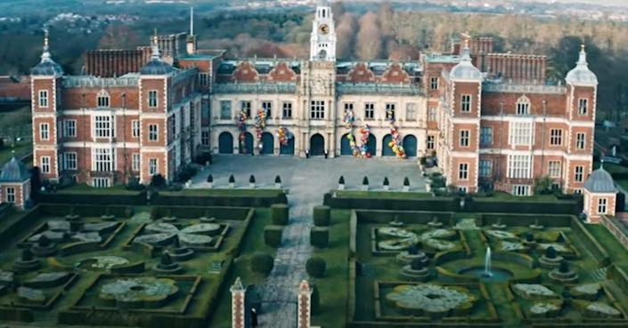 """<p>The music video for the Jonas Brothers' 2019 comeback song, """"Sucker,"""" was filmed at Hatfield House, a 75,000-square-foot English country house. It can also be seen in <a href=""""https://www.housebeautiful.com/design-inspiration/a34339105/enola-holmes-netflix-filming-locations/"""" rel=""""nofollow noopener"""" target=""""_blank"""" data-ylk=""""slk:Enola Holmes"""" class=""""link rapid-noclick-resp""""><em>Enola Holmes</em></a> and <em>The Favourite</em>. Take a look at the video <a href=""""https://www.youtube.com/watch?v=CnAmeh0-E-U"""" rel=""""nofollow noopener"""" target=""""_blank"""" data-ylk=""""slk:here"""" class=""""link rapid-noclick-resp"""">here</a>.</p>"""