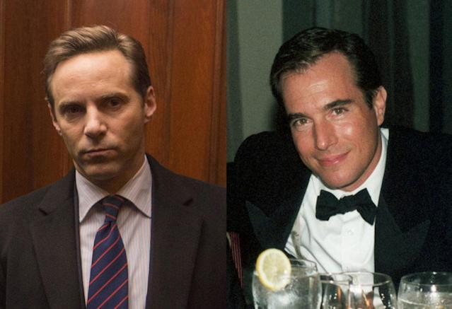 <p>Nivola doesn't look like the elder Madoff brother as much as Darrow does with Andrew, but his eyes are eerily identical to his counterpart. Mark committed suicide in 2010.<br><br>(Photo: HBO/Getty) </p>