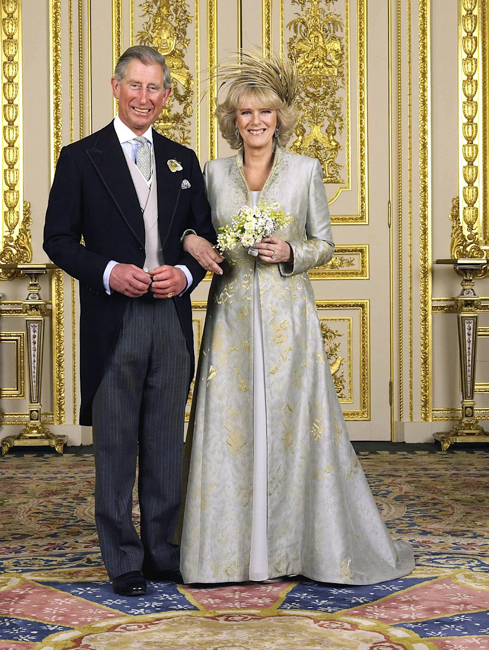 Charles and Camilla on their wedding day in 2005. [Photo: PA]