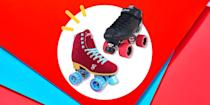 """<p>If it feels like rollerskating has taken over your social media feed, you're not seeing things. The cool-girl cardio activity first made popular in the '70s is having a major moment right now. Want to get in on the fun? The first thing to do is invest in a good pair of roller skates. </p><p>Okay, sounds simple, but """"it's easy to get overwhelmed by the variety of skates out there, but the person who can help you the best is your local skate shop,"""" says <a href=""""https://www.instagram.com/rollerskatevictoria/"""" rel=""""nofollow noopener"""" target=""""_blank"""" data-ylk=""""slk:Kathleen Janzen"""" class=""""link rapid-noclick-resp"""">Kathleen Janzen</a>, a.k.a. Roxy Acetylene, owner of Nerd Roller Skates shop and co-owner of Calgary Roller Skate School, both of which are based out of Calgary in Alberta, Canada. """"They are usually skaters and independent businesses who are passionate about seeing people get rolling and grow as a skater. They can check fit issues, compare brands, and fix things when something breaks or wears out."""" </p><p>But if you're browsing online, the most important thing to pay attention to is the skate's wheels. Janzen says you can really use any skates indoors or outdoors as long as you have a good pair of wheels, and the wheels you choose will depend on where you plan to skate. """"Wheels are usually labeled with a hardness number from 101a (hardest) to about 78a (softest). Wheels will also vary in size, from around 65 mm diameter to as little as 54 mm,"""" she explains. </p><p>FWIW: """"Outdoor wheels that are good for pathways are usually largest and softest, so they can roll over irregular surfaces to make for a smooth ride. Wheels for roller derby are usually in the 88a to 96a hardness and around a 59mm diameter so skaters can get the right amount of grip for quick stops and changes in direction, and rink skaters will pick wheels based on their skating style. Some prefer wide wheels for lots of traction to get speed, while some prefer very small wheels for tight changes i"""