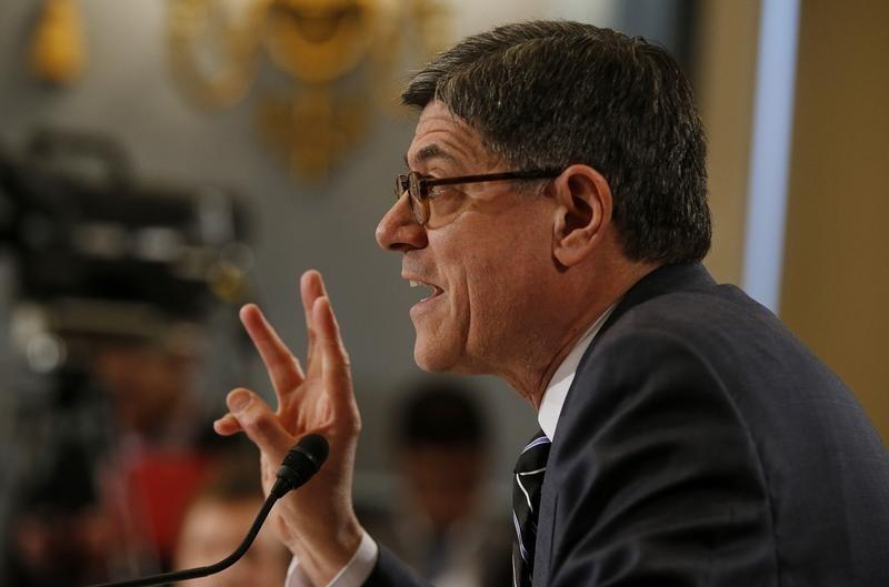 U.S. Treasury Secretary Lew testifies on Obama's Fiscal Year 2016 U.S. Government Budget proposal before a committee hearing in Washington