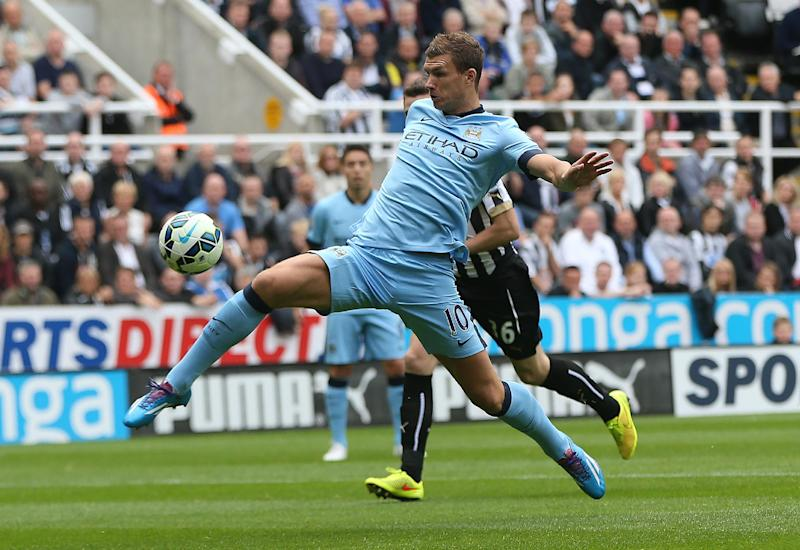 Manchester City's Edin Dzeko during their Premier League match against Newcastle United in Newcastle-upon-Tyne on August 17, 2014