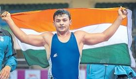 Grappler Deepak Punia, Junior World champ