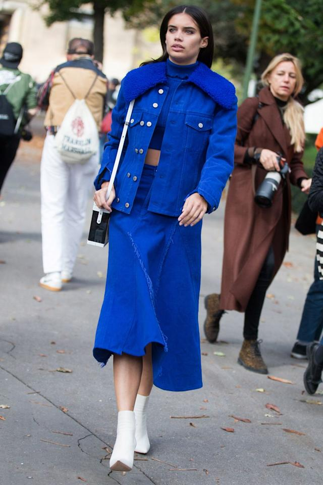 <p>Invest in a pair of ankle-length, heeled sock boots and wear with bare legs and midi skirts for the perfect transitional look.</p>
