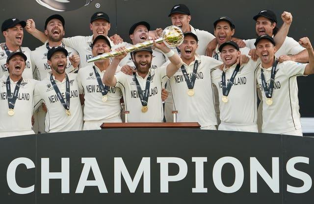 New Zealand captain Kane Williamson, centre, oversaw his side's crowning as world Test champions earlier this year (Adam Davy/PA)