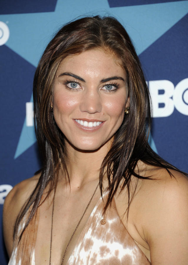 U.S. Women's Soccer goalie Hope Solo attends the final season premiere of 'Entourage' at the Beacon Theatre on Tuesday, July 19, 2011 in New York. (AP Photo/Evan Agostini)