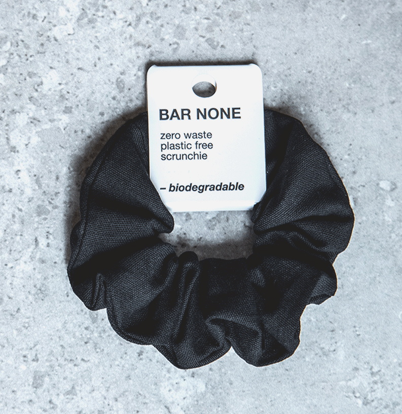 Bar None biodegradable scrunchie, $5. Photo: supplied.