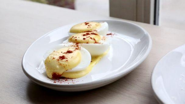 PHOTO: Chef Nick Korbee prepared this dish of classic deviled eggs. (Lesley Hauler/ABC News)