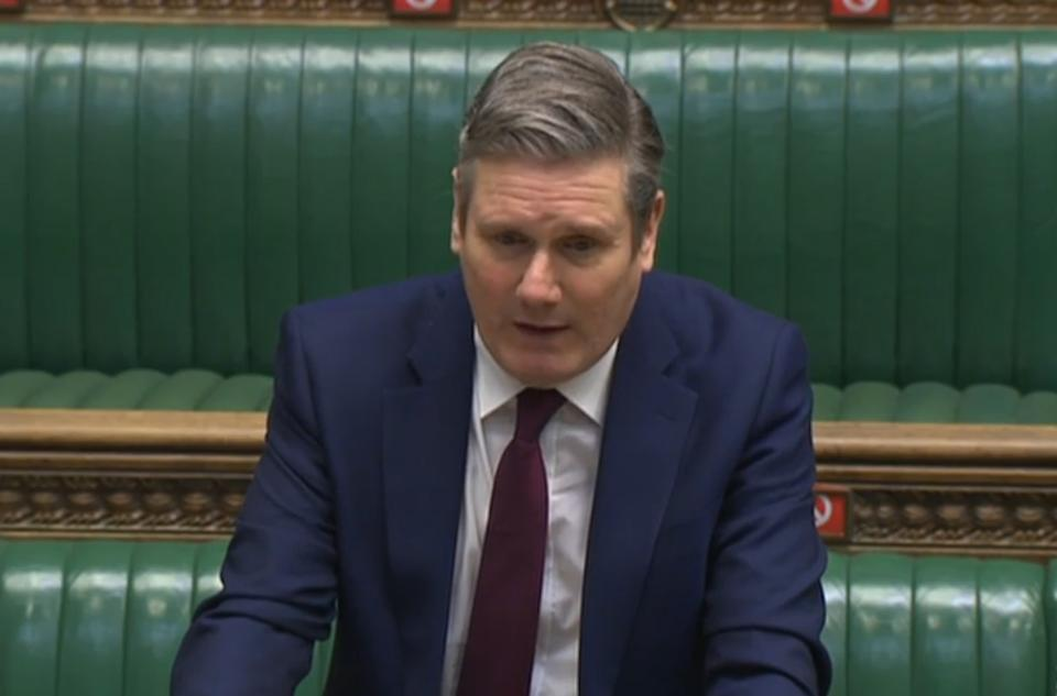 Caption According to a leaked presentation, Labour leader Keir Starmer wants the party to tap into British patriotism so as to drum up support for them (Photo by House of Commons/PA Images via Getty Images)