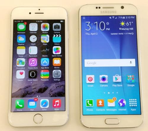iphone 6 vs samsung galaxy s6 battle of sixes samsung galaxy s6 vs apple iphone 6 1468