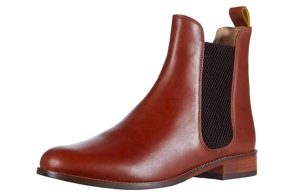 brown boots, joules