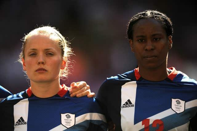Kim Little (left) represented Great Britain at the 2012 Olympics.