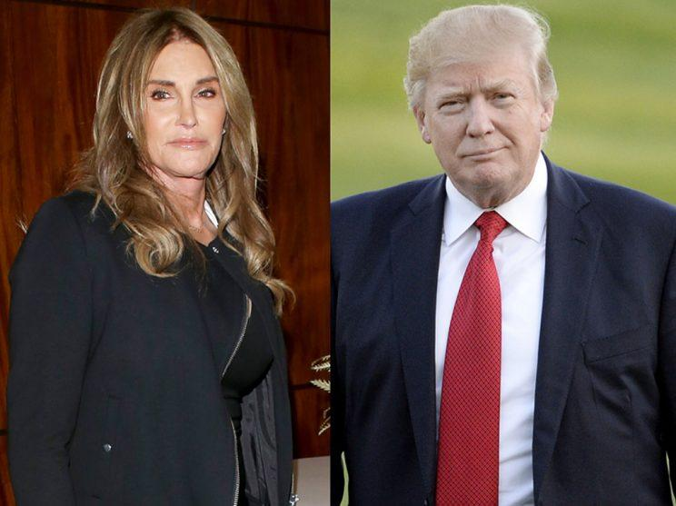 Caitlyn Jenner, left, and Donald Trump