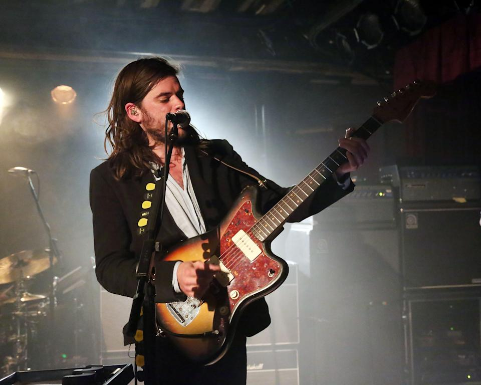 Winston Marshall of Mumford & Sons performs for SiriusXM listeners at The McKittrick Hotel on May 9, 2015 in New York City.