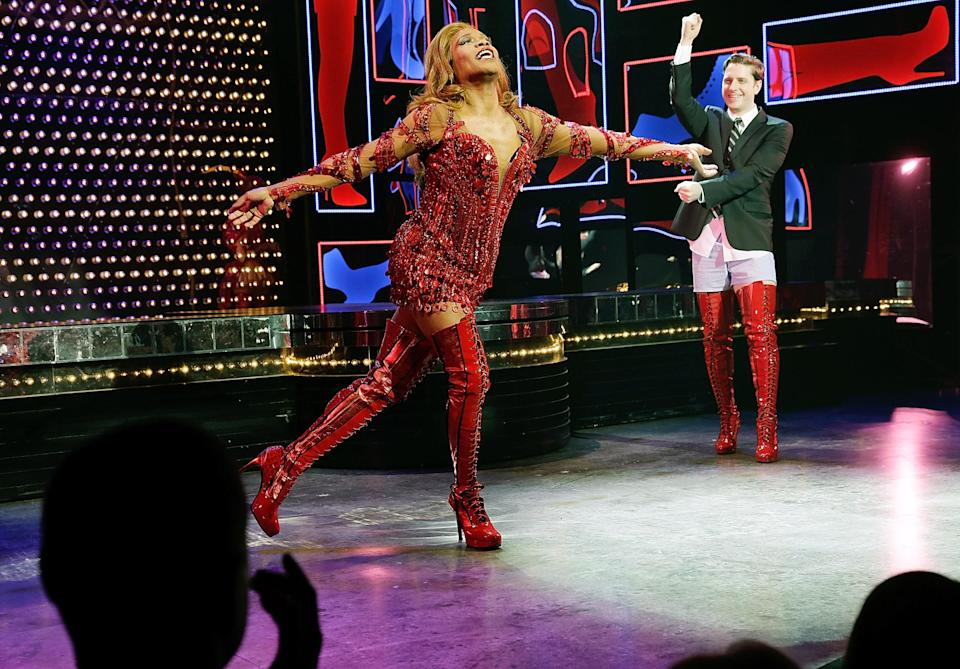 Billy Porter as the glamorous Lola in Kinky Boots, 2014