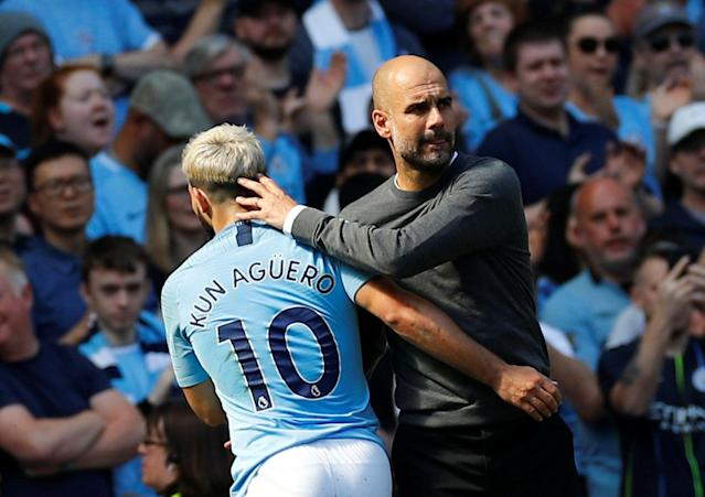 Pep Guardiola, Sergio Aguero and Manchester City are leaving their domestic league in the dust, as are a bunch of other elite clubs in Europe. (Reuters)