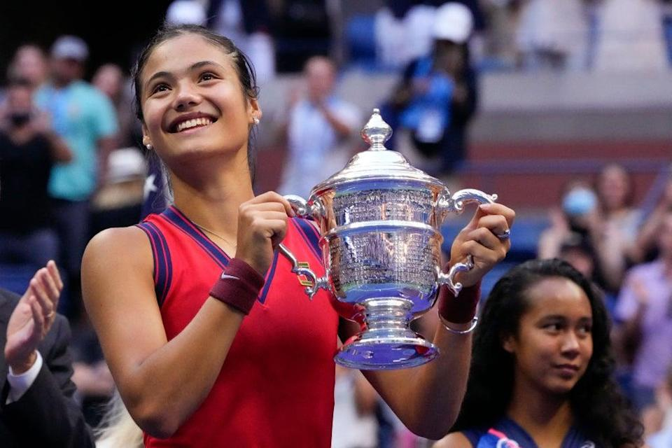 Emma Raducanu, 18, won the US Open this month (AFP/Getty)