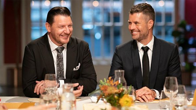 My Kitchen Rules judges Manu Feildel and Pete Evans won't be joining the MasterChef judging lineup in 2020. Photo: Channel Seven