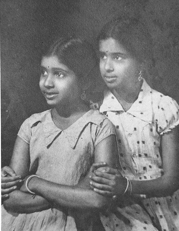 Asha Bhosle and Meena Tai
