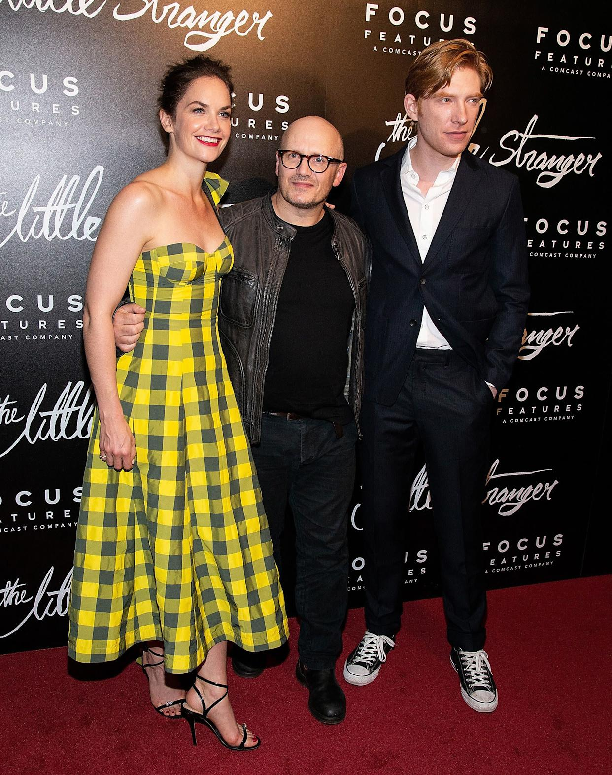NEW YORK, NY - AUGUST 16: (L-R) Ruth Wilson, Lenny Abrahamson and Domhnall Gleeson attend 'The Little Stranger' New York Premiere at Metrograph on August 16, 2018 in New York City. (Photo by Paul Zimmerman/WireImage)