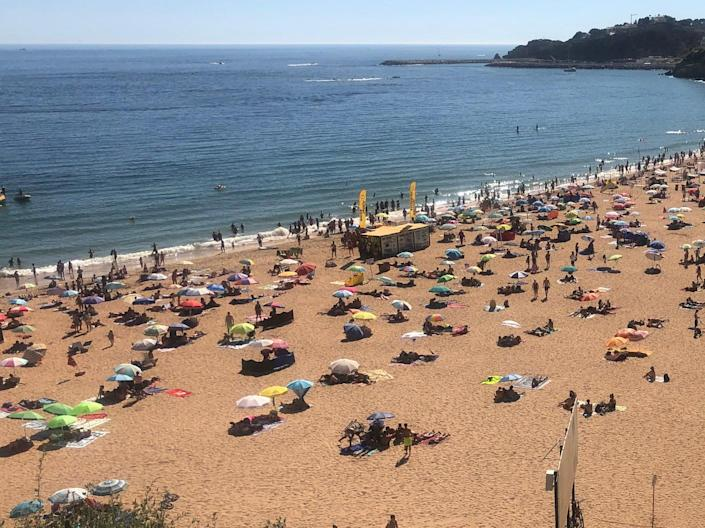 Sea of green? Albufeira on Portugal's Algarve coast, a possible candidate for low-risk status  (Simon Calder)