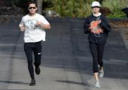 <p>New couple Shia LaBeouf and Margaret Qualley take a jog through Los Angeles together on Wednesday.</p>