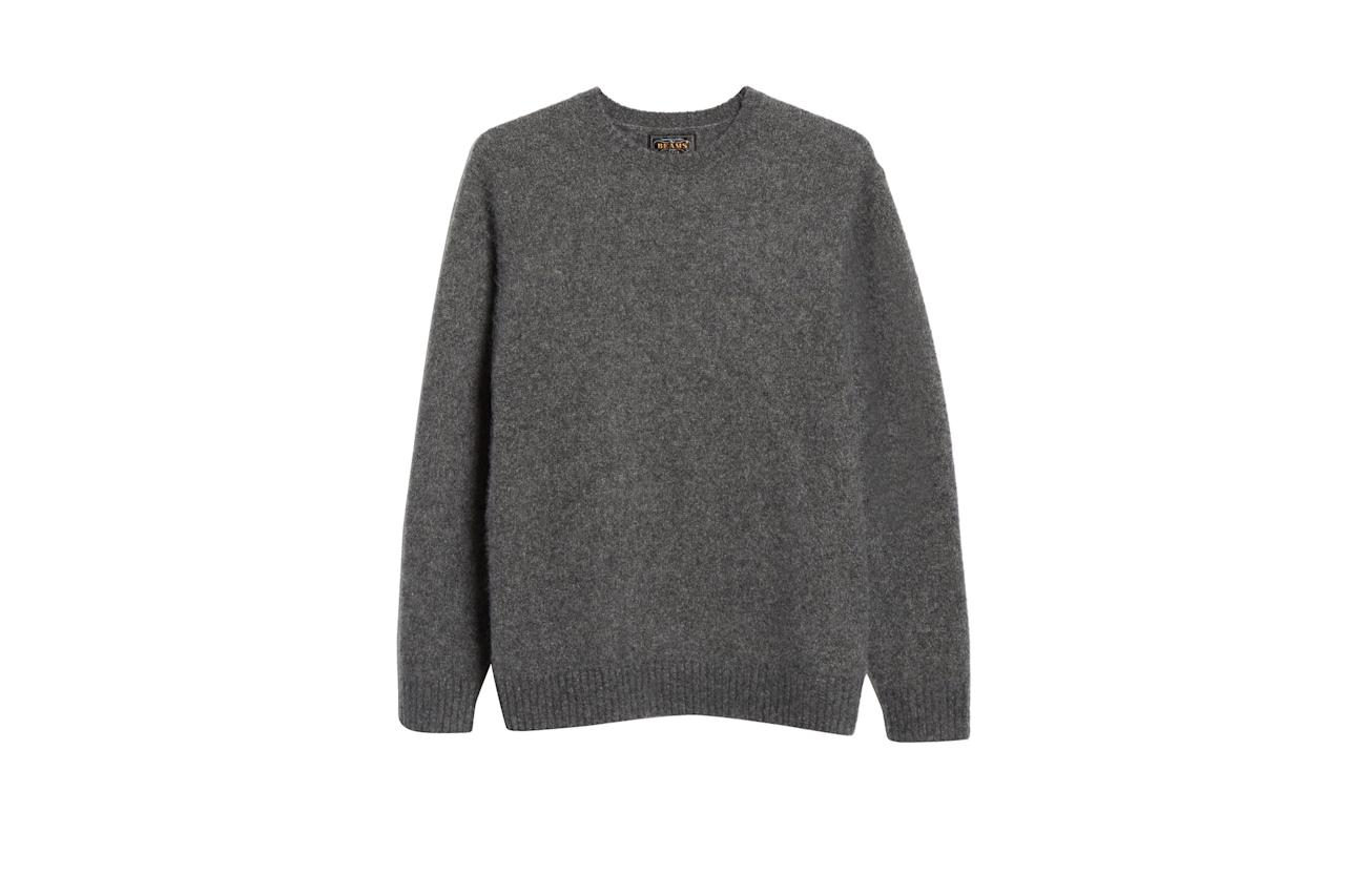 "$448, Nordstrom. <a href=""https://shop.nordstrom.com/s/beams-plus-cashmere-silk-sweater/5441323?origin=category-personalizedsort&breadcrumb=Home%2FMen%2FNew%20Concepts%3A%20BEAMS%2FAll%20BEAMS&color=navy"">Get it now!</a>"