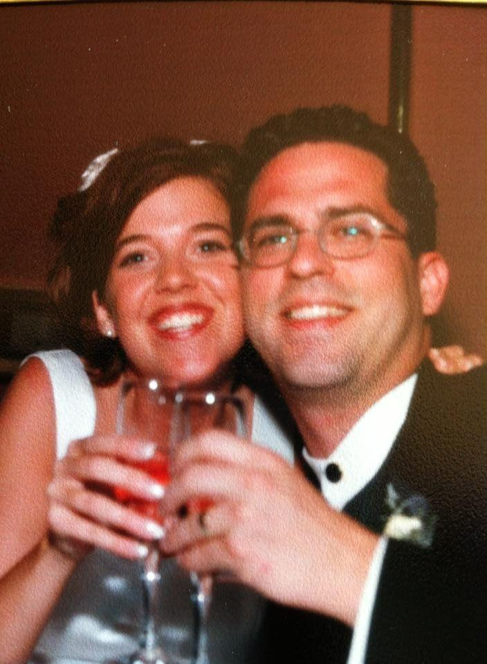 The couple on their wedding day, almost 20 years ago.